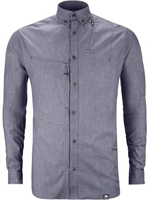 Klättermusen Lofn Shirt Men Storm Blue Melange